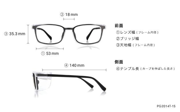 Eyeglasses OWNDAYS PG2014T-1S  ブラック