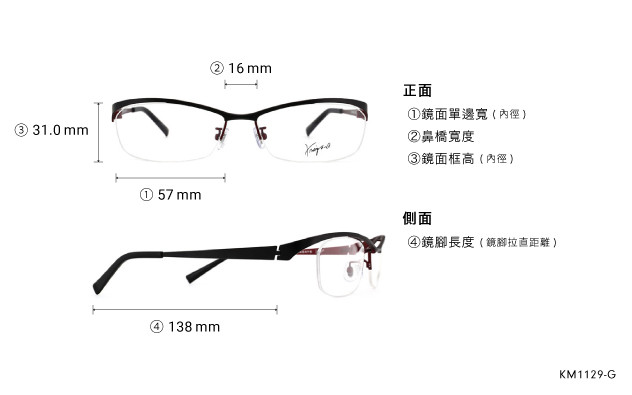 Eyeglasses K.moriyama KM1129-G  Black