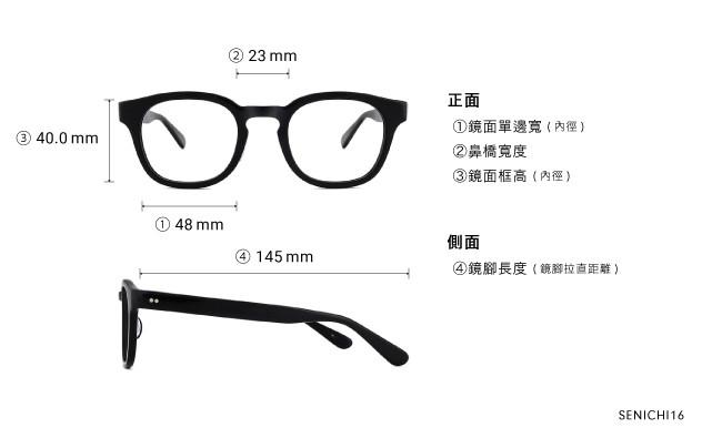 Eyeglasses 千一作 SENICHI16  Black