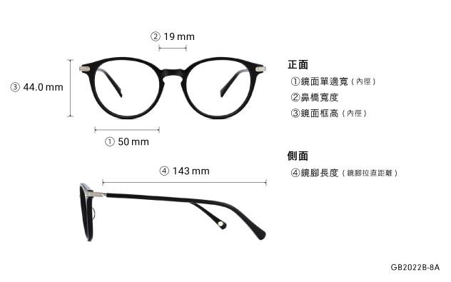 Eyeglasses Graph Belle GB2022B-8A  Black