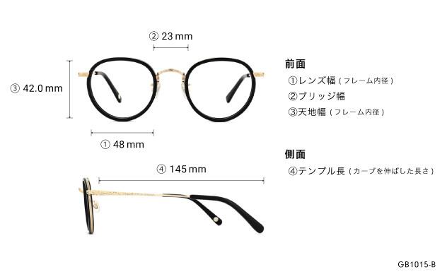 Eyeglasses Graph Belle GB1015-B  ブラック