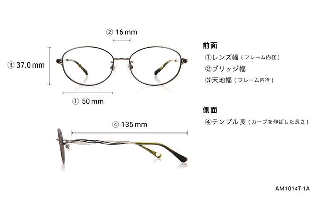 Eyeglasses Amber AM1014T-1A  ブラック