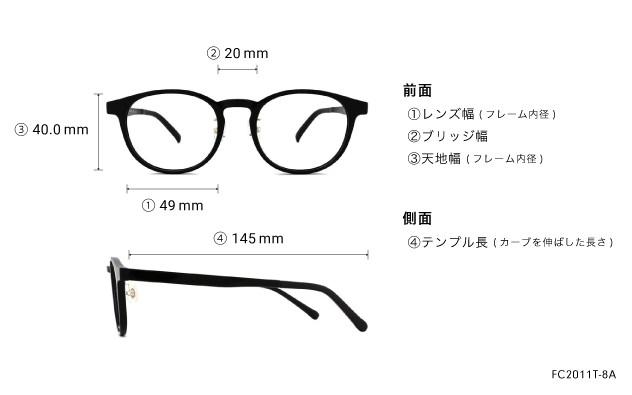 Eyeglasses FUWA CELLU FC2011T-8A  ブラック