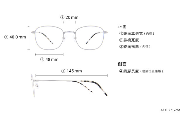 Eyeglasses AIR FIT AF1026G-9A  Silver