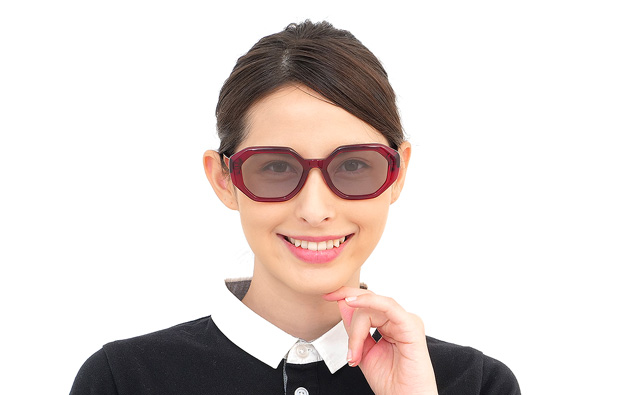 Sunglasses OWNDAYS SUN2068B-9S  レッド