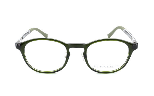 Eyeglasses FUWA CELLU FC2002-T  カーキ