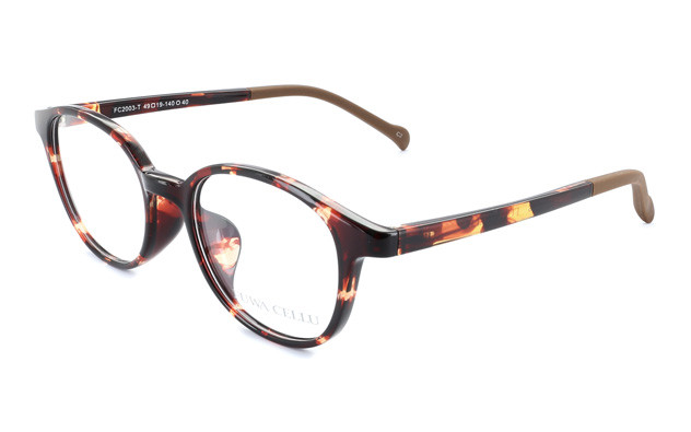 Eyeglasses FUWA CELLU FC2003-T  ブラウンデミ