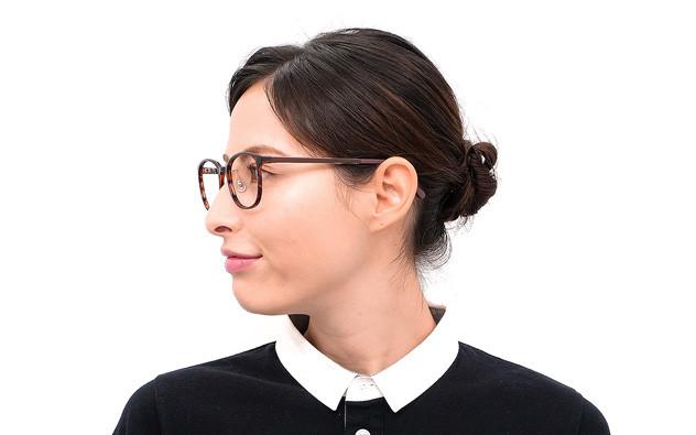 Eyeglasses FUWA CELLU FC2022S-0A  ブラウン