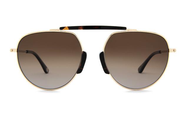 Sunglasses +NICHE NC1023B-0S  ゴールド