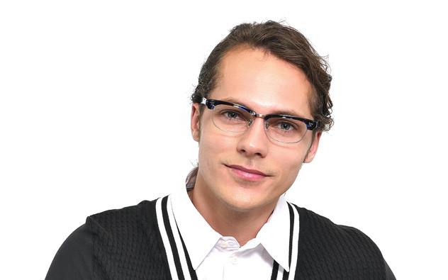 Eyeglasses John Dillinger JD2014-J  Brown Demi