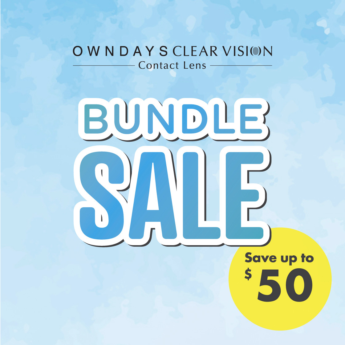 OWNDAYS CLEAR VISION CONTACT LENS BUNDLE SALE